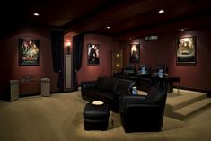 Incorporating a home theater space is a great way to make your basement cozy! Not to mention having a theater in your home would be seriously cool!! #hometheaterinstallation #hometheatertips