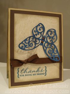 Love this butterfly made with the Art Philosophy Cricut cartridge only available from Close To My Heart.