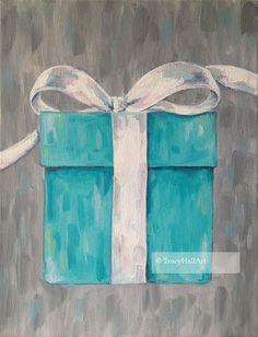 Tiffany's Blue Box Art Painting Popular Tiffany & by TracyHallArt