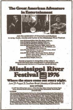 Mississippi River Festival, 1976, Edwardsville, Illinois