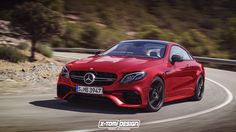 Following its official presentation, the new Mercedes-Benz E-Class Coupe has been rendered in the range-topping AMG E63 Coupe version.