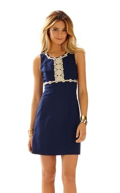 Rosie Lace Detail Shift Dress - Lilly Pulitzer True Navy