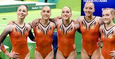 #rio2016 De Nederlandse turnsters, voor het eerst actief in een olympische teamfinale, konden zich nog verbeteren ten opzichte van de kwalificaties en eindigden nog voor gastland Brazilië als zevende. Céline van Gerner, Vera van Pol, Eythora Thorsdottir, Lieke en Sanne Wevers kwamen uit op een score van 172,447.