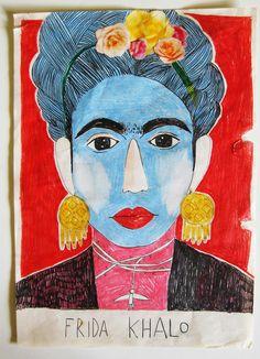 Nice portrait of Kahlo by Inma Lorente