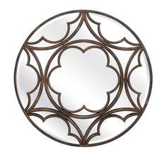 Nadine Metal Wall Mirror Imax Round Mirrors Home Decor