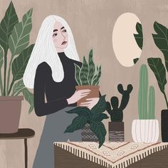 Fashionable illustrated lady by Rachael Dean #illustration