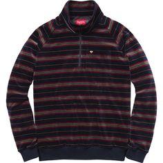 Supreme Velour Half Zip Pullover
