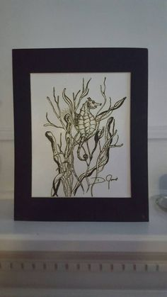 Check out this item in my Etsy shop https://www.etsy.com/listing/398079245/seahorse-ink-drawing