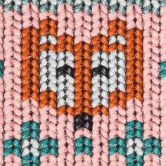Stoffe für Fachhändler - Cosy knitting Fox by Cherry Picking **Öko-Tex Standard 100** -Swafing excl., Sweat unangeraut, Strickmuster, Füchse, rosa - Swafing GmbH