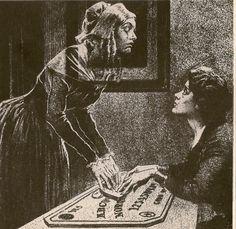 Ouija board divination two girls 1900s?