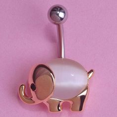 Elephant Belly Button Ring Piercing Item Type: Body Jewelry Fine or Fashion: Fashion Style: Trendy Body Jewelry Type: Navel & Bell Button Rings Material: Rhinestone Metals Type: Stainless Steel Shape