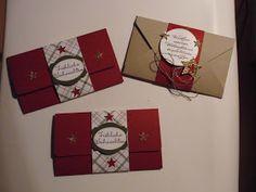 Hallo,   heute habe ich neue Gutscheinkarten gewerkelt....für Weihnachten ...und gleich werde ich noch einen Geburtstagsgutschein basteln.....