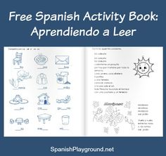 Spanish workbook, Aprendiendo a leer, has activities for teaching kids to read and write. The free PDF is great material for Spanish language learners.