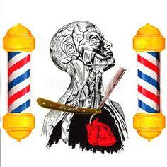 Anatomia con rasoio Illustrazione Tatuaggio in stile old/new school