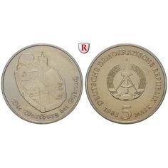 DDR, 5 Mark 1983, Wartburg, st, J. 1586: Kupfer-Nickel-5 Mark 1983. Wartburg. J. 1586; stempelfrisch 145,00€ #coins #numismatics