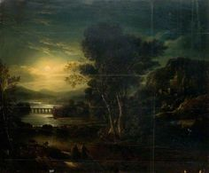 Moonlight Scene by John Crome (after) The New Art Gallery Walsall Date painted: 1821