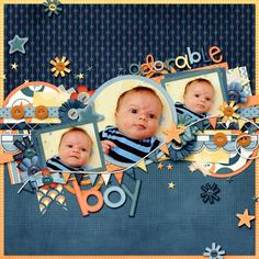 Ideas Baby Boy Scrapbook Page Ideas Layout Baby Boy Scrapbook, Scrapbook Bebe, Bridal Shower Scrapbook, Album Scrapbook, Baby Scrapbook Pages, Scrapbook Layout Sketches, Scrapbook Designs, Scrapbook Paper Crafts, Scrapbooking Layouts