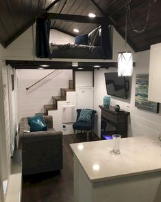 Amazing loft stair for tiny house ideas (35)