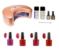 Suppliers of soak off UV/LED Gel Polish, Gel Polish Kits, LED Lamps, Removers, Cleansers and nail art supplies. Shellac Gel Polish, Gel Manicure At Home, Polishing Kit, Nail Art Supplies, Nail File, Uv Led, Perfect Nails, Starter Kit, Red And Pink