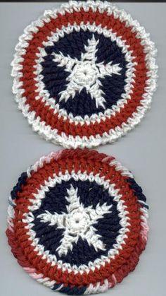 Patriotic CD Trivet ~ free pattern