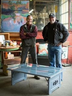 Robert Kulp (left) and Mike Whiteside started their salvaging business, Black Dog Salvage, on a whim in 1999, but they soon realized it was no mistake. Besides salvaging, they also create and sell one-of-a-kind treasures, like this door panel coffee table, in their Roanoke, Va., showroom. Here are 19 of their coolest projects as seen on Salvage Dawgs.