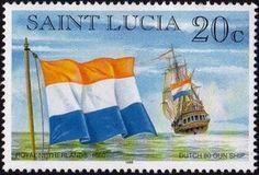 Sello: Dutch (Santa Lucía) (Ships) Mi:LC 1058,Sn:LC 1048