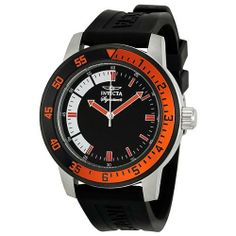 Invicta Signature II Black and Orange Rubber Strap Mens Watch 7468 Invicta. $84.99. Water Resistance : 5 ATM / 50 meters / 165 feet. Analog Display. Water Resistant up to 100 m. luminous. second-hand