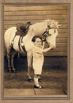 1920 - A boy and his pony