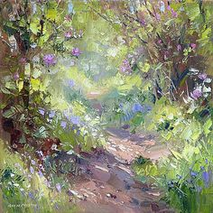 Rex Preston, Pathway Through the Rhododendrons and Bluebells