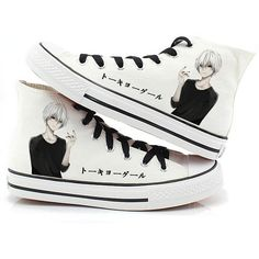 Tokyo Ghoul Anime Kaneki Ken Cosplay Shoes Canvas Shoes Sneakers Many... ($36) ❤ liked on Polyvore featuring shoes, sneakers, canvas shoes, animal trainer, canvas footwear, canvas sneakers and animal shoes