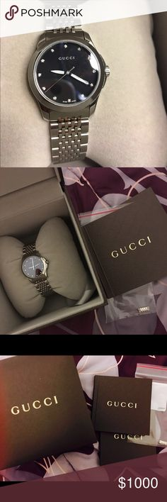 12214afe507 Women s watch Gucci Water resistant 5 ATM. Stainless steel. With diamonds.  Good conditions