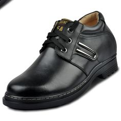 Black  height shoes 9cm / 3.54inch with the SKU:MENXJD_5506-2 - best height increasing men casual shoes grow taller 9cm / 3.54inches leather elevator shoes