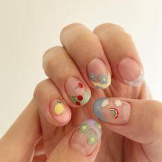 Cute Nail Art, Cute Acrylic Nails, Cute Nails, Gel Nails, Manicure, Cute Short Nails, Korean Nail Art, Korean Nails, Soft Nails