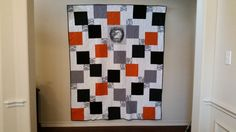 Harley Davidson Quilt by QuiltedwithNanaslove on Etsy