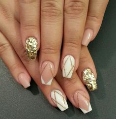 Cute Nail Art Designs - Photos on We Heart It Fabulous Nails, Gorgeous Nails, Pretty Nails, Cute Nail Designs, Acrylic Nail Designs, Acrylic Nails, Sexy Nails, Nude Nails, White Nails