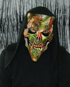 a02b55d76a0 Whispers Deluxe SKU  M2009D This satanic skull mask incorporates quality  lined elastic strap for securement