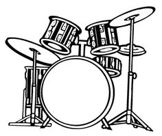 How To Draw A Drum Set Cool