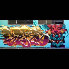 "tschelovek_graffiti: ""@nachor_uno  @gerso_siete нарисовали для #MeetingOfStylesElSalvador в Сан-Сальвадоре. #nacho #gersosiete #SieteDiez #mos_salvador #meetingofstyles2015 #граффити_tschelovek #streetart #urbanart #graffiti #mural #стритарт #граффити #wallart #graffitiart #art #paint #painting #artederua #grafite #arteurbana #wall #artwork #graff #artist #graffiticulture #graffitiwall #streetart_daily #streetarteverywhere"""