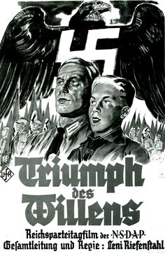"Nazi propaganda/movie poster for ""Triumph des Willens"" (Triumph of the Will), directed by Leni Riefenstahl"