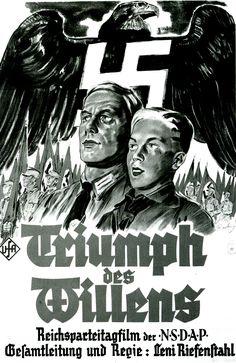 "Nazi propaganda/movie poster for ""Triumph des Willens"" (Triumph of the Will), directed by Leni Riefenstahl"