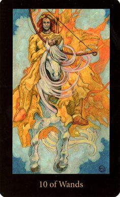 Mary El Tarot- Ten of Wands