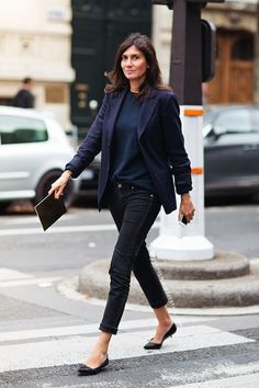 french-style-emmanuelle-alt-black-skinnies-blazer-via-stockholm-street-style