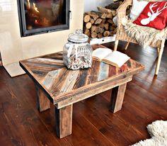 Handmade Industrial vintage farmhouse Rustic unique farmhouse style multicolor Shabby Chic Coffee Table Reclaimed wood Decor Handmade