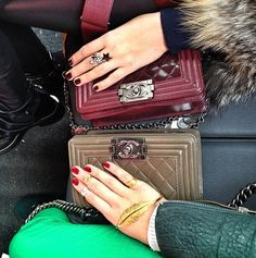 mcqueeny:    I want the Chanel Boy bag more than anything