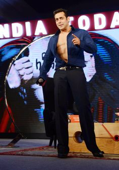 Salman Khan agreed to auction his shirt for charity at the India Today Conclave 2014. #Style #Bollywood #Fashion #Handsome