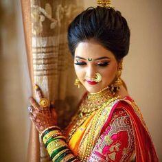 Image may contain: 1 person, closeup Indian Bridal Photos, Bridal Hairstyle Indian Wedding, Indian Wedding Bride, Indian Bridal Hairstyles, Indian Bridal Makeup, Indian Bridal Fashion, Indian Wedding Couple Photography, Wedding Couple Poses, Bride Photography