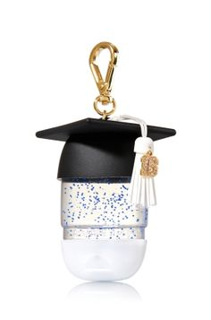 Graduation Cap - PocketBac Holder - Bath & Body Works - Outsmart germs with this fun graduation cap for your favorite PocketBac! The convenient clip attaches to your backpack, purse and more so you can always keep your sanitizer close at hand. Bath N Body Works, Bath And Body, Personajes Monster High, Alcohol En Gel, Hand Sanitizer Holder, Hand Lotion, Perfume, Travel Size Products, Girly Things