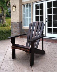 Rockport Burnt Brown Cedarwood Adirondack Outdoor Chair Wood Adirondack Chairs, Patio Chairs, Outdoor Chairs, Outdoor Decor, Ikea Chairs, Beach Chairs, Dining Chairs, Modern Outdoor Furniture, Tejidos
