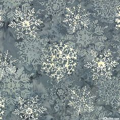 Winter Balis - Snowflake Mirage Batik - Pewter Gray