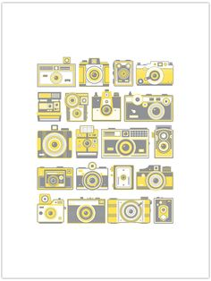 Retro Cameras Poster www.55his.com/shop/retro-cameras